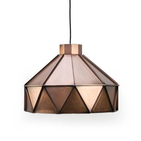 LEF collections Hanglamp Triangle koper aluminium 42x42x32cm