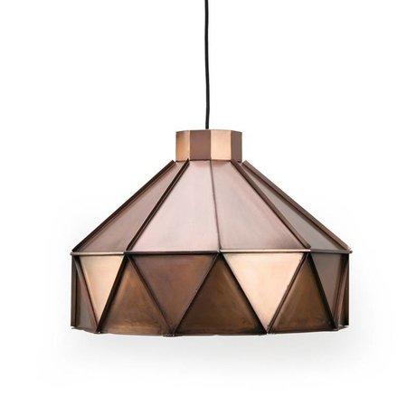 LEF collections Hanglamp Triangle koper aluminium 42x42x32cm
