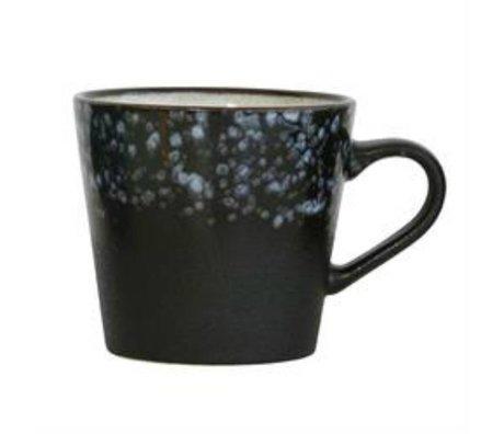 HK-living Cappuccino mok Galaxy '70's style multicolour keramiek 12x9,5x8,5cm