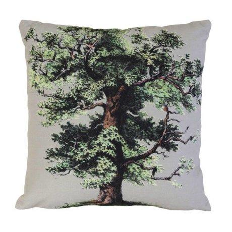 HK-living Kussen 'big oak tree' wit katoen 45x45cm