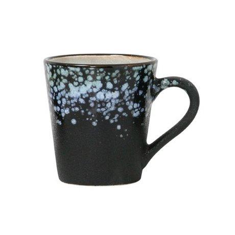 HK-living Espresso kop galaxy '70's style multicolour keramiek 5,8x8x6,2cm
