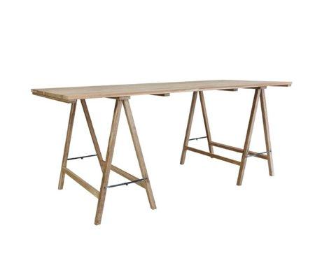 HK-living Schrafen tafel teak 180x80x76cm