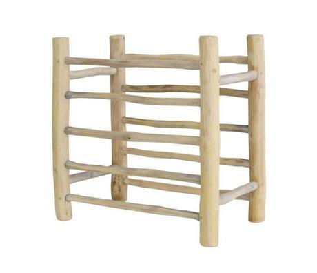 HK-living Bordenrekje blank hout 36x22x36cm