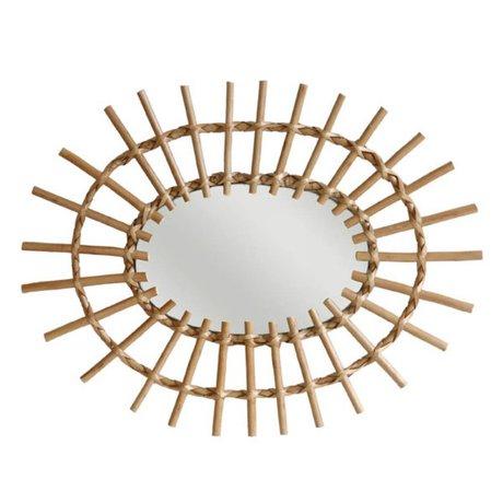 HK-living Spiegel ovaal wilgentakken 60x45cm