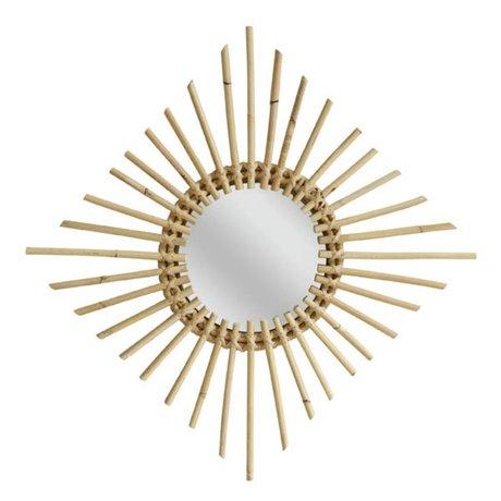 HK-living Spiegel ruitvorm wilgentakken 60x60cm