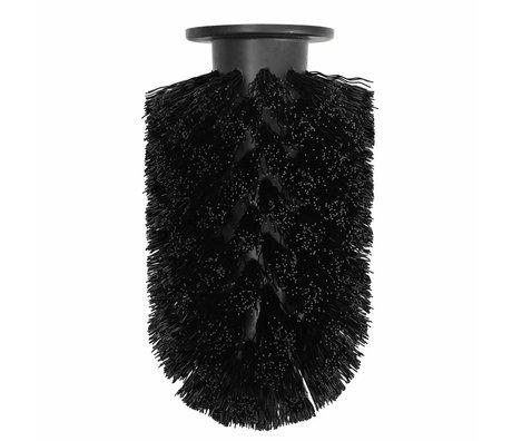 Normann Copenhagen Toiletborstelkop Ballo zwart kunststof Ø7,5x12,5cm