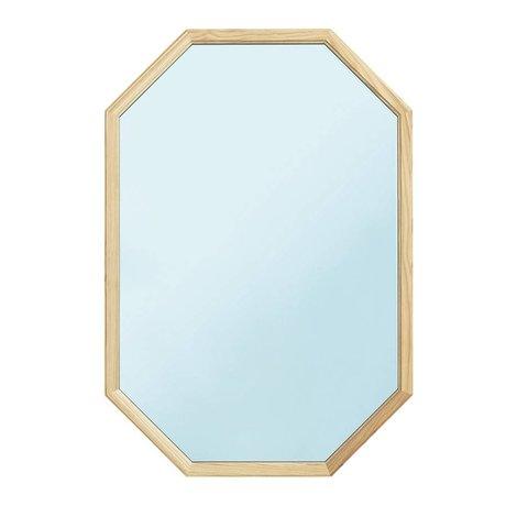 Normann Copenhagen Spiegel Lust Mirror Large blauw staal 80x55x2,5cm