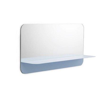 Normann Copenhagen Spiegel Horizon Mirror horizontaal blauw staal 40x80cm