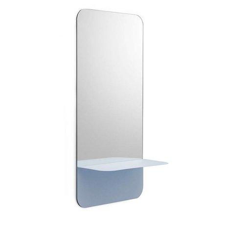 Normann Copenhagen Spiegel Horizon Mirror verticaal blauw staal 80x40cm