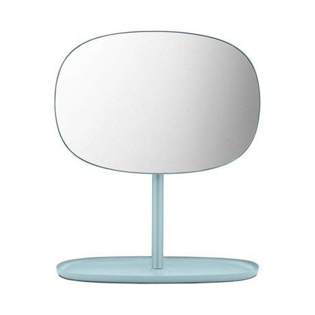 Normann Copenhagen Spiegeltje Flip Mirror blauw staal 28x19,5x34,5cm