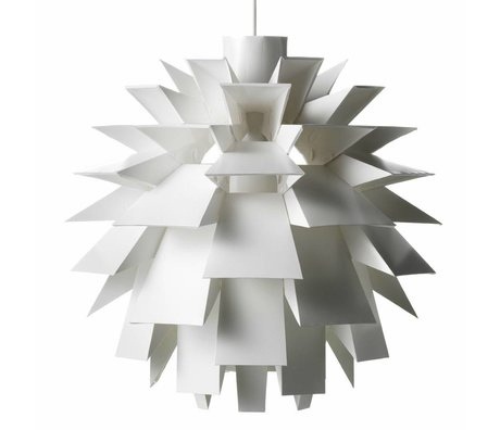 Normann Copenhagen Hanglamp Norm 69 wit lampenfolie XXL Ø78x78cm