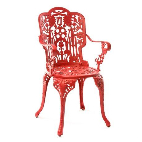 Seletti Stoel Industry rood aluminium 52x55x94cm