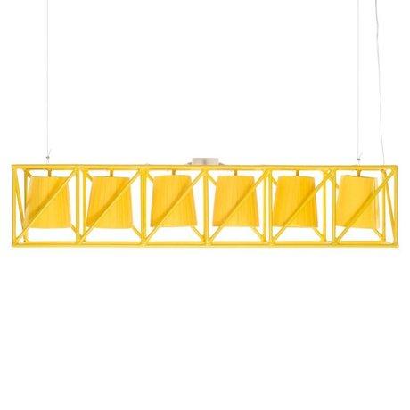 Seletti Hanglamp Multilamp Line geel metaal 103x22x22cm