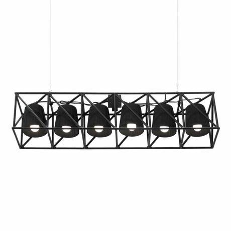 Seletti Hanglamp Multilamp Line zwart metaal 103x22x22cm