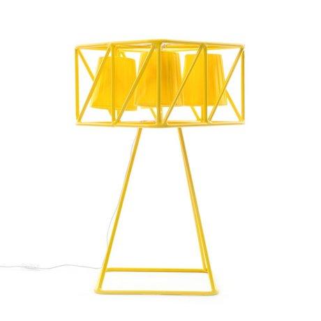 Seletti Tafellamp Multilamp Table geel metaal 35x35x66cm