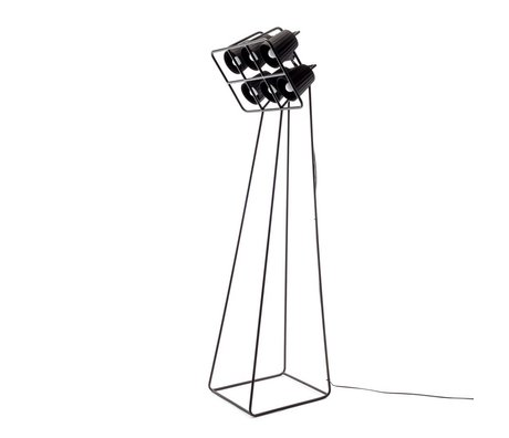 Seletti Vloerlamp Multilamp Floor zwart metaal 53x51x180cm