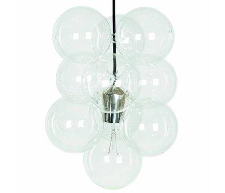 Housedoctor Hanglamp DIY zilver 12 glazen bollen 48x30cm