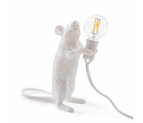Seletti Tafellamp Mouse wit kunststof 6,2x8,1x14,5cm