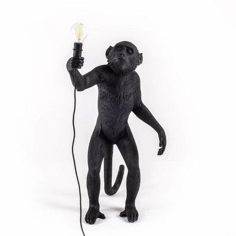 Seletti Tafellamp The Monkey zwart kunsstof 46x27,5x54cm