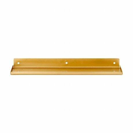 Housedoctor Wandplank Ledge, metaal goud 43x11,5x4cm