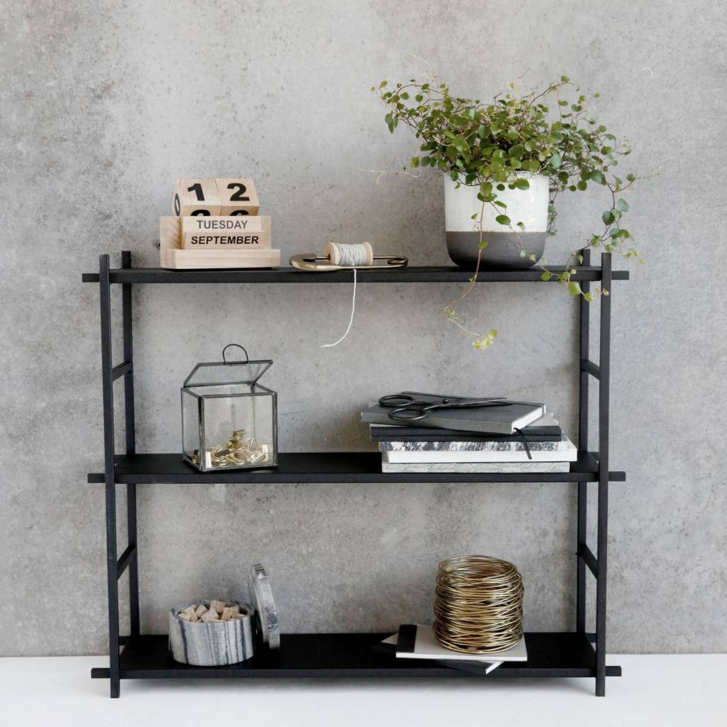 housedoctor wandrek simple metaal metaal zwart 60x15x50cm. Black Bedroom Furniture Sets. Home Design Ideas