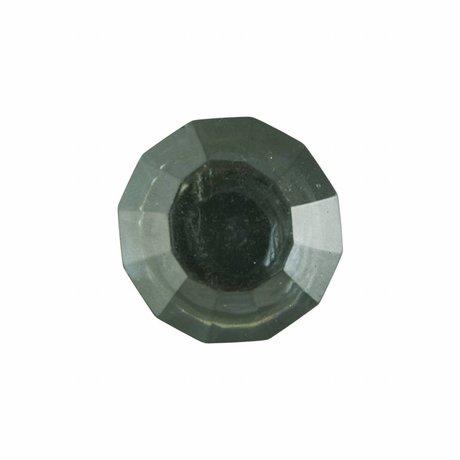 Housedoctor Deurknop set van twee All Glass Clear groen glas metaal verkrijgbaar in 2 maten