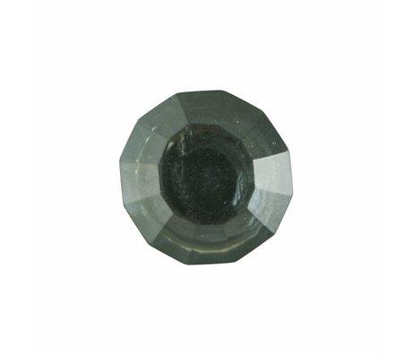 Housedoctor Deurknop All Glass Clear groen glas metaal 2 maten