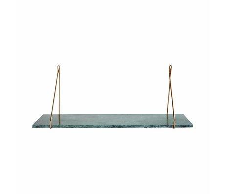 Housedoctor Wandplank Marble, groen marmer 24x70cm