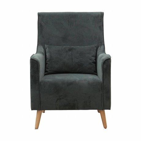 Housedoctor Fauteuil Chaz groen textiel hout 68x82x99cm