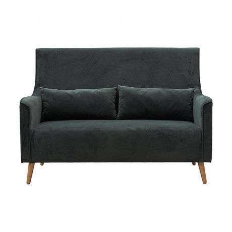 Housedoctor Sofa bank Chaz groen textiel eiken 140x82x99cm