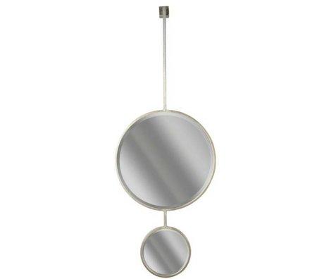 BePureHome Spiegel Chain Double mirror L zwart metaal 87x46x10cm
