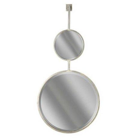 BePureHome Spiegel Chain Double mirror XL zwart metaal 112x46x10cm