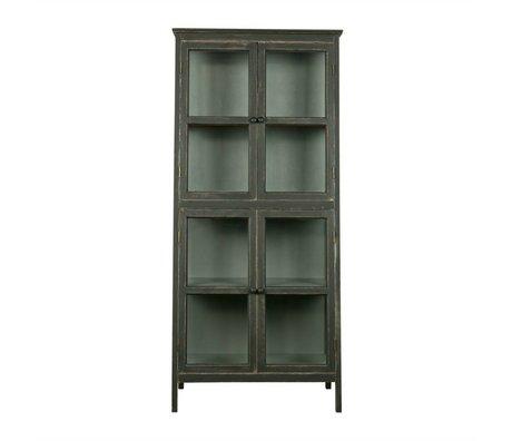 BePureHome Vitrinekast Herritage zwart hout 173x79x45,5cm
