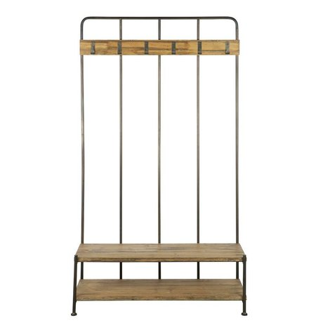 BePureHome Kapstok staand Giro bruin/grijs hout metaal 180x100x40cm