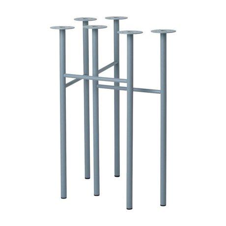 Ferm Living Tafelpoten Mingle dusty blauw metaal 71x68x34,5cm set van 2