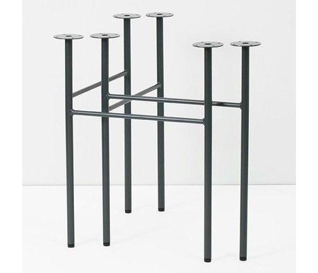 Ferm Living Tafelpoten Mingle donkerblauw metaal 71x68x34,5cm set van 2