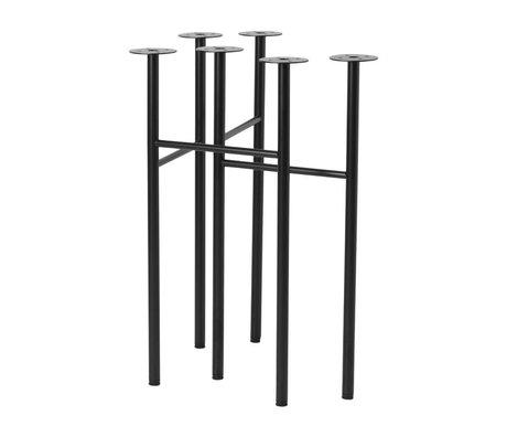 Ferm Living Tafelpoten Mingle zwart metaal 71x68x34,5cm set van 2