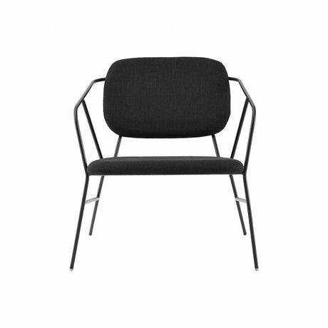 Housedoctor Loungestoel Klever zwart metaal polyester schuim 70x70x75cm