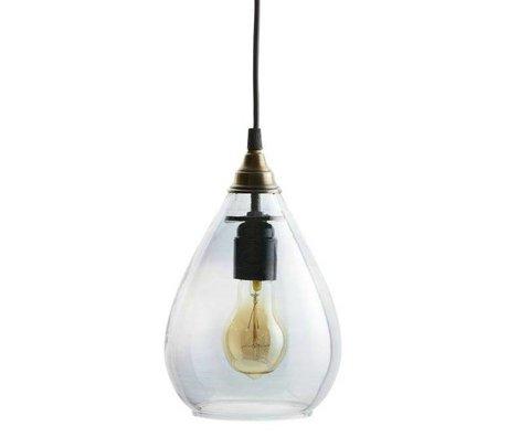 BePureHome Hanglamp Simple grijs glas M 25xØ11cm