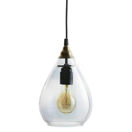 BePureHome Hanglamp Simple grijs glas M 25xØ11cm