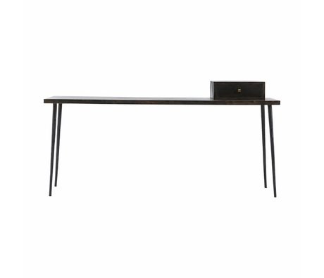 Housedoctor Sidetable Club black stain hout 180x45x75cm