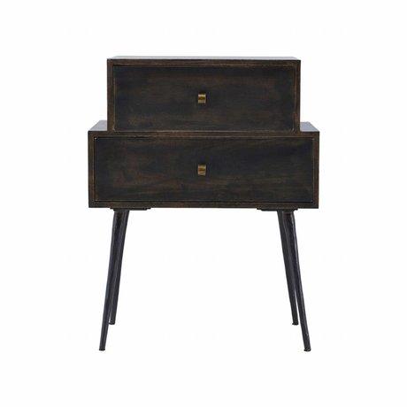 Housedoctor Ladenkast Club black stain hout 60x40x80cm