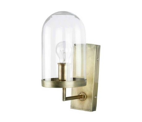 BePureHome Wandlamp Cover up brass goud metaal glas 36xØ28cm