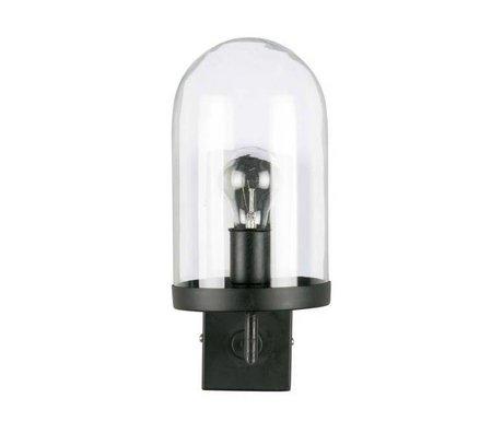 BePureHome Wandlamp Cover up zwart metaal glas 36xØ28cm