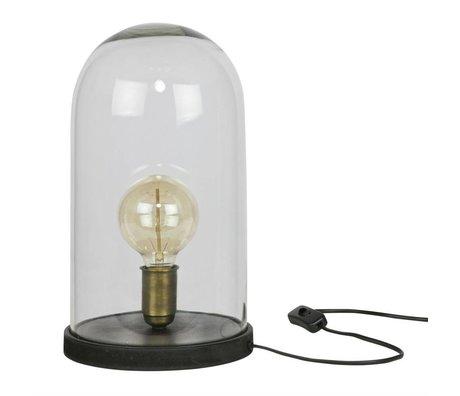BePureHome Tafellamp Cover up zwart hout glas 38xØ20cm