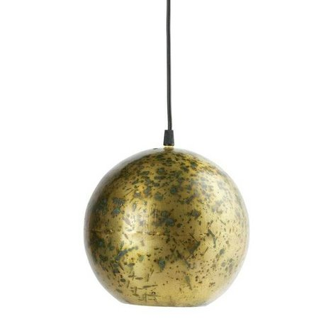 BePureHome Hanglamp Cannonball brass goud metaal 20xØ20cm