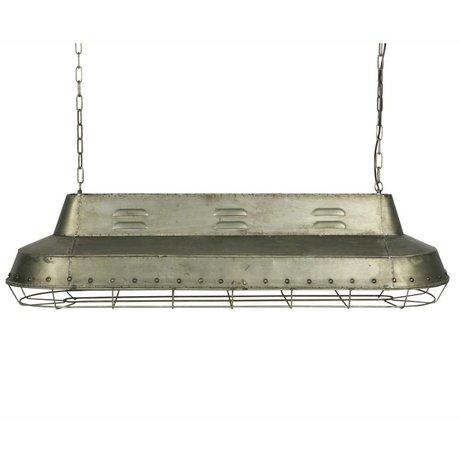 BePureHome Hanglamp Spotlight zilver metaal 37x129,5x40cm