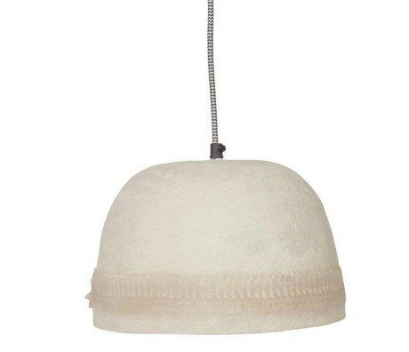 BePureHome Hanglamp Dawn edge wit resin papier steen 18xØ25cm