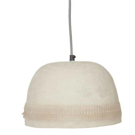 BePureHome Hanglamp Dawn edge wit resin papier steen 18xØ25cm