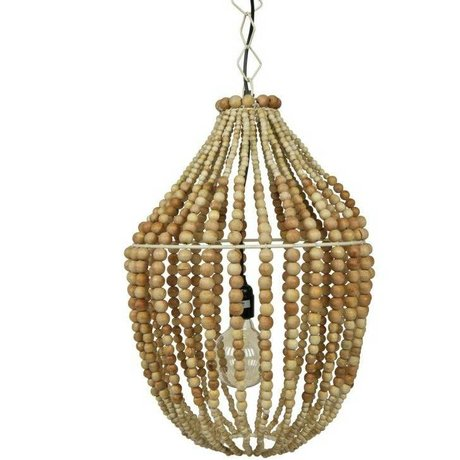 BePureHome Hanglamp Funale kroonluchter licht bruin hout L 54xØ42cm